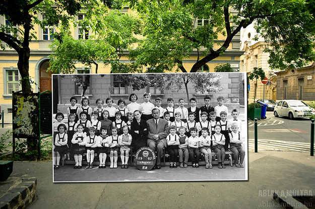 1962 and 2013--ocation: Budapest, IX. 12 place Bakáts, school of music and singing at the corner of the street Knezich.
