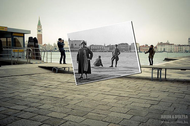1935 and 2012--Location: Venice, Italy, near the Piazza San Marco.