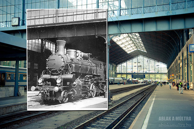 1936 and 2012--Location: Budapest, Hungary West Railway Station.