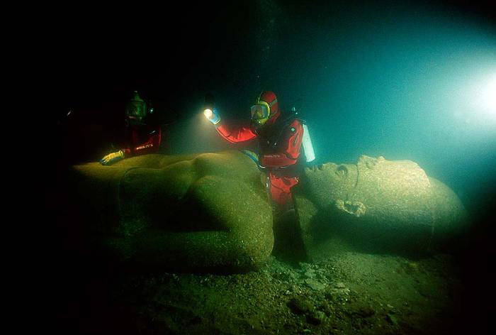 The Remains Of Lost Egyptian City Of Heracleion