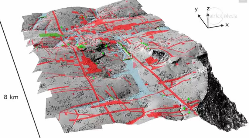 LIDAR image of Mahendraparvata