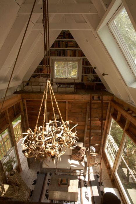 An interior view of tree house
