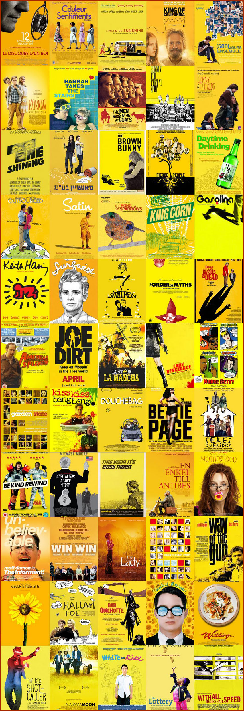Revolutionary films love yellow