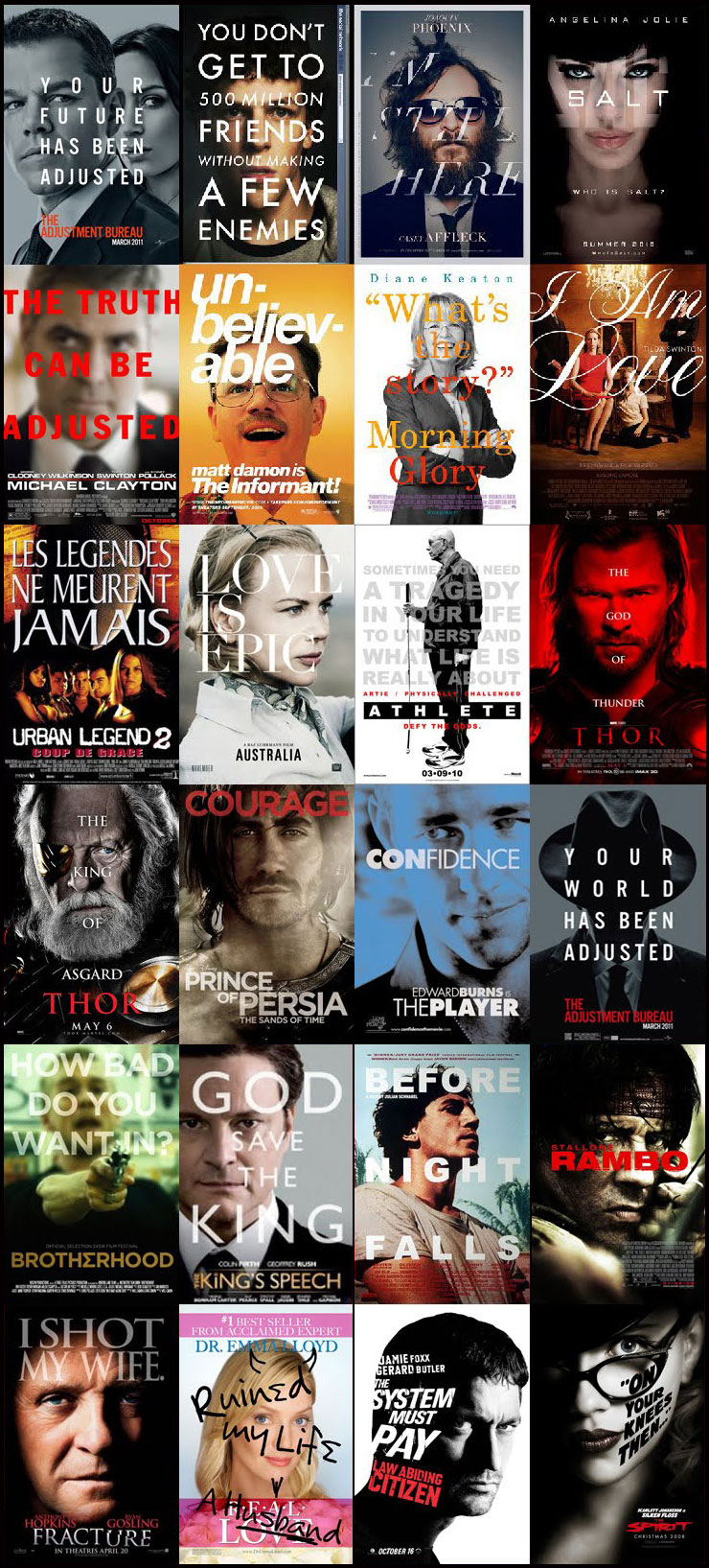 discover how all movie posters look alike photo gallery