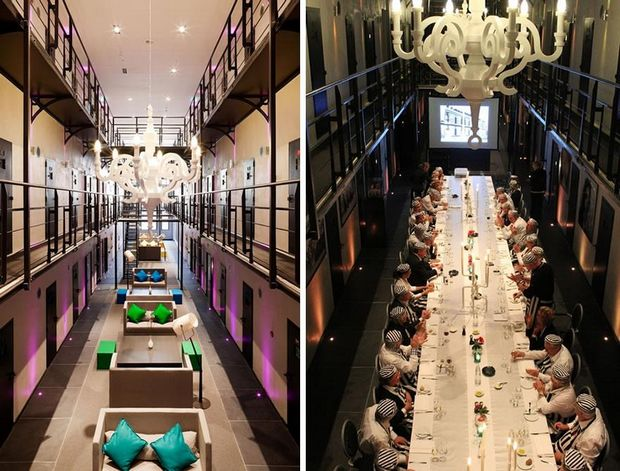 Het Arresthuis-The dining room of prison-hotel