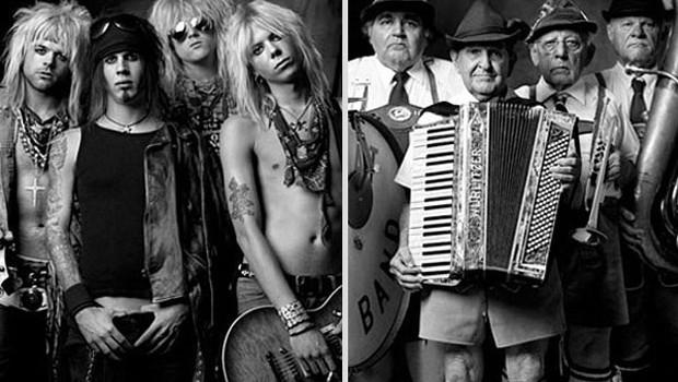 Rock Band and Polka group