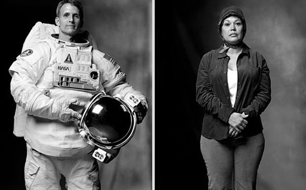 Astronaut and a person who has met aliens