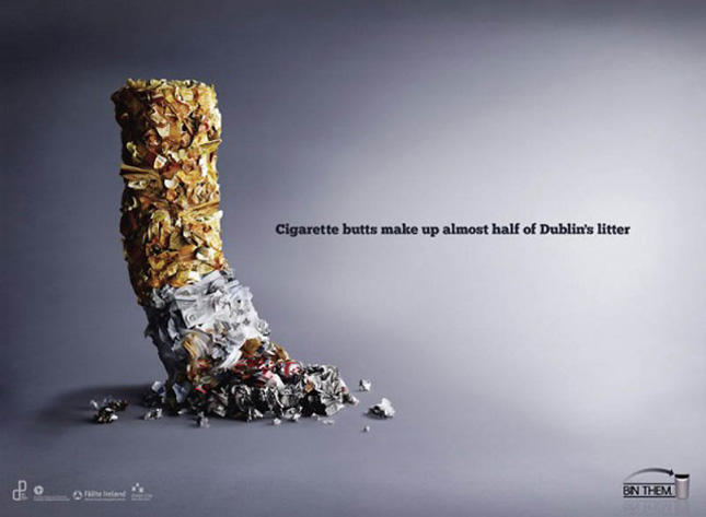 A shocking add against smoking