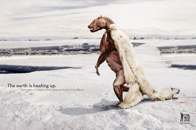 A shocking add against global warming