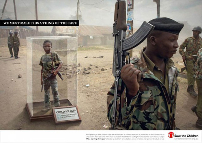 A shocking add against child soldiers