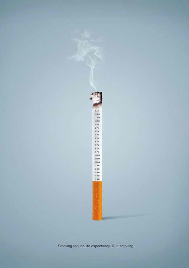 Smoking reduces life expectancy. Quit