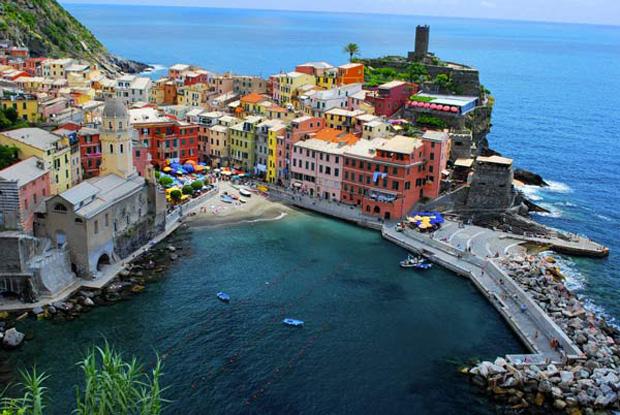 Cinque Terre in Liguria, Italy.