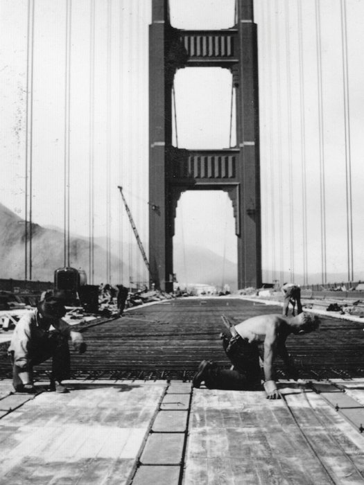Construction Of Golden Gate Bridge – San Francisco (1933-1937)