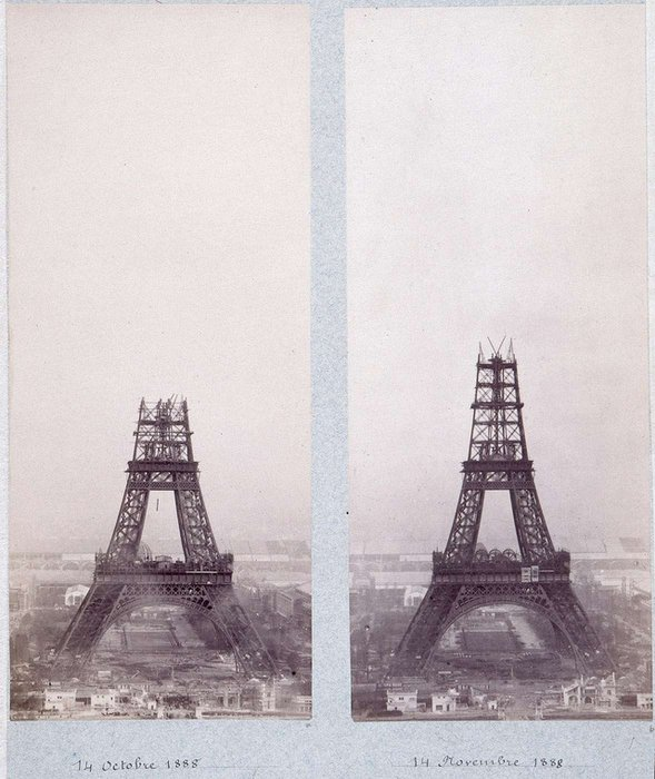 Construction Of Eiffel Tower-PARIS (1887-1889)