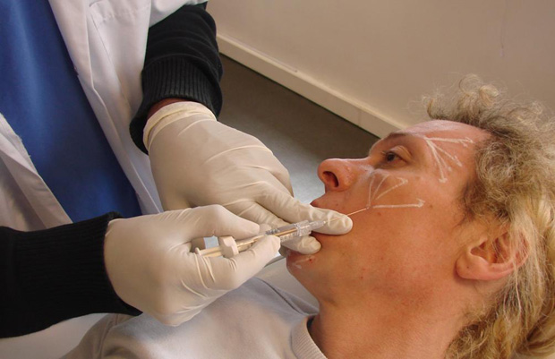 Collagen can be injected under the skin to fill in the cracks and wrinkles