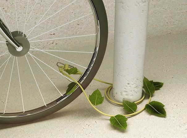 Plant bike lock