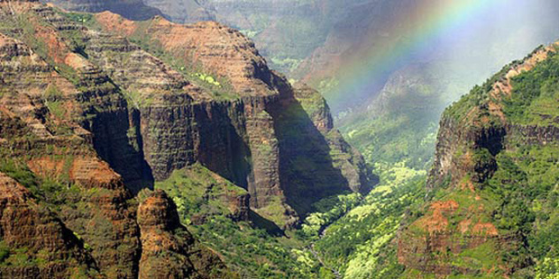 Waimea Canyon in Kauai, Hawaii island