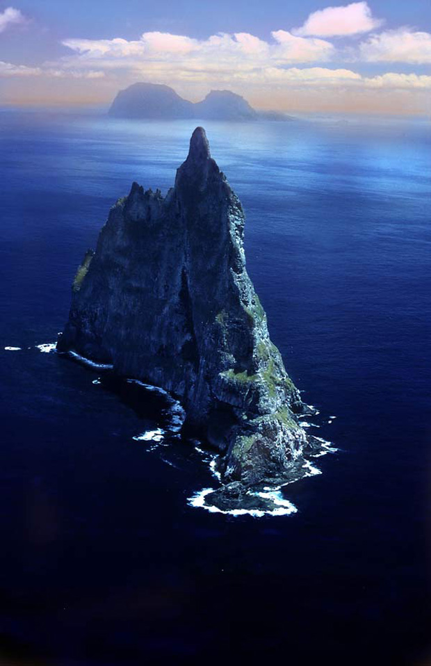 Ball Pyramid, south of Lord Howe Island, Pacific Ocean.
