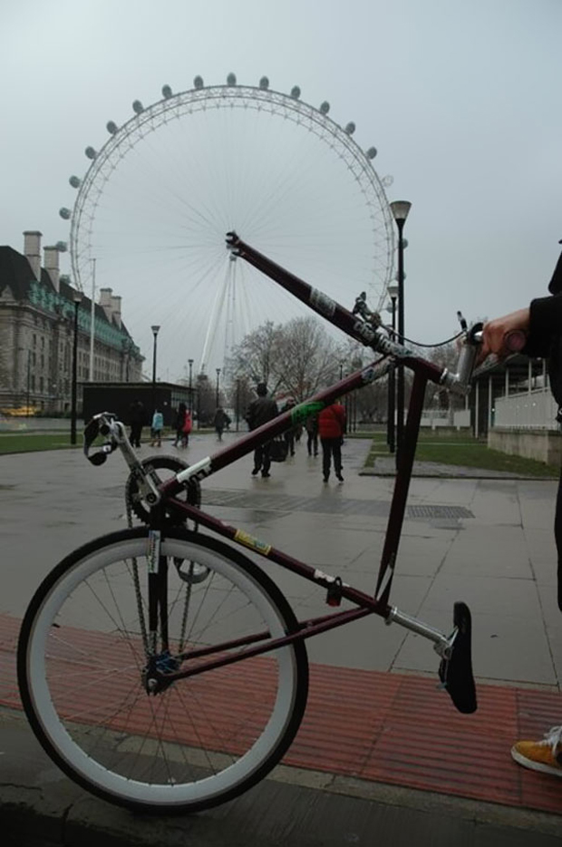 London wheel seems to be front wheel of a bicycle.