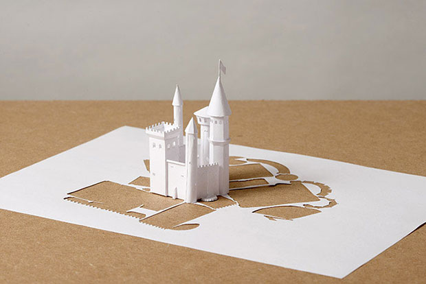 A castle made of paper