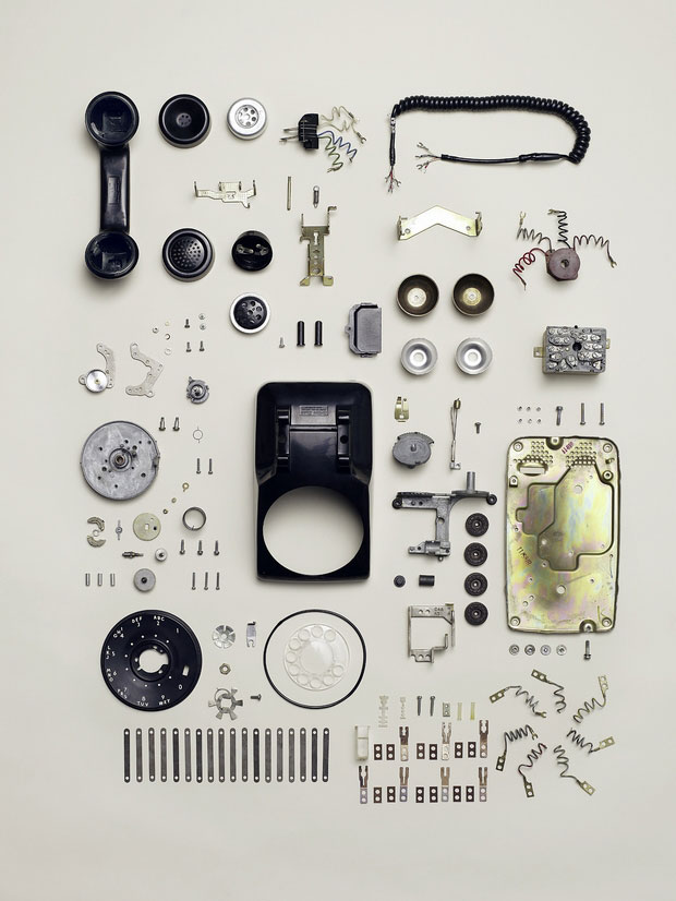 Parts of a telephone.