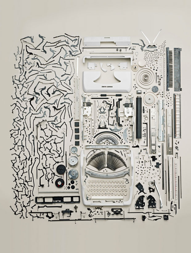 Parts of a typewriter