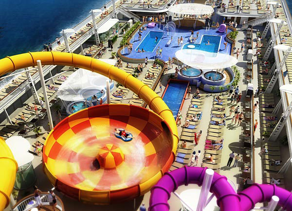 The Epic Plunge, the cruise ship Norwegian Epic, Norwegian