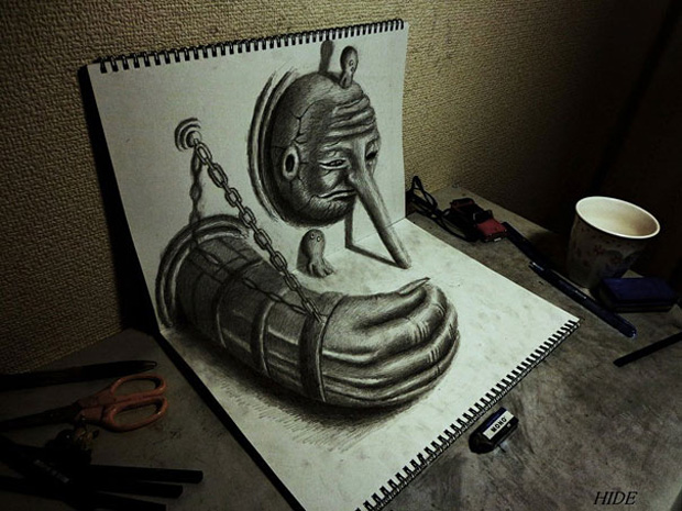 Wonderful 3D Optical Illusion By nagai-hideyuki