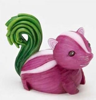 Squirrel Sculptures Made From Vegetables