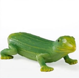 Chameleon Sculptures Made from Cucumber