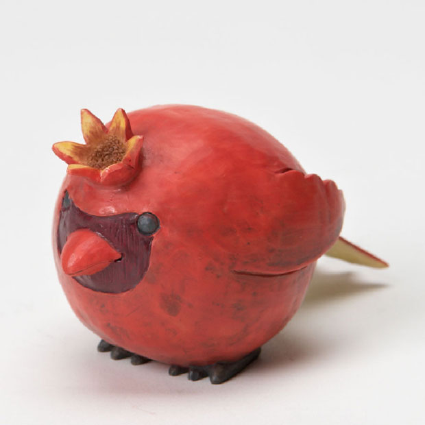 Bird Sculptures Made From Pomegranate