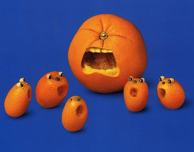 Animal Sculptures Made From Orange