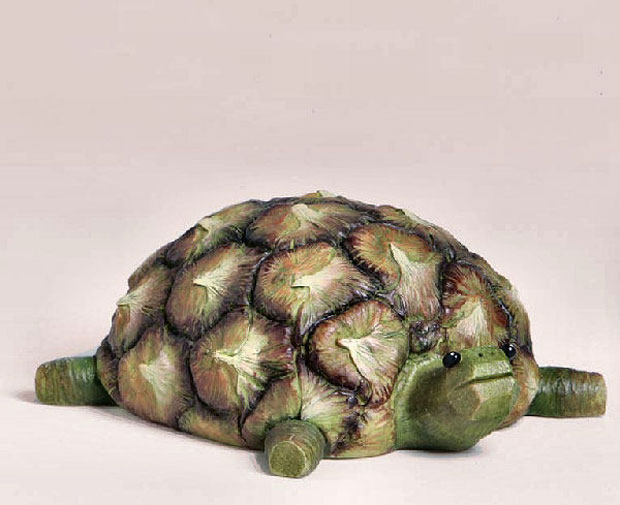 Tortoise Sculptures Made From Pineapple