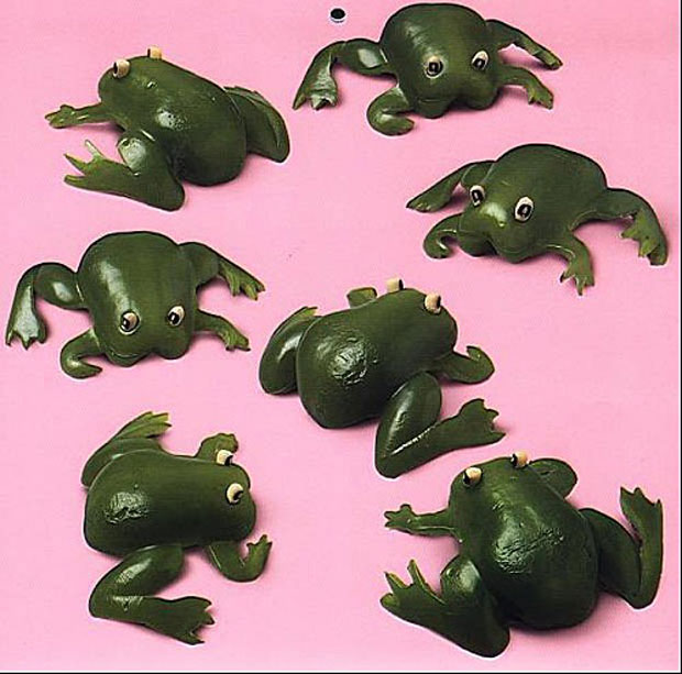 Frog Sculptures Made From Green Chilli