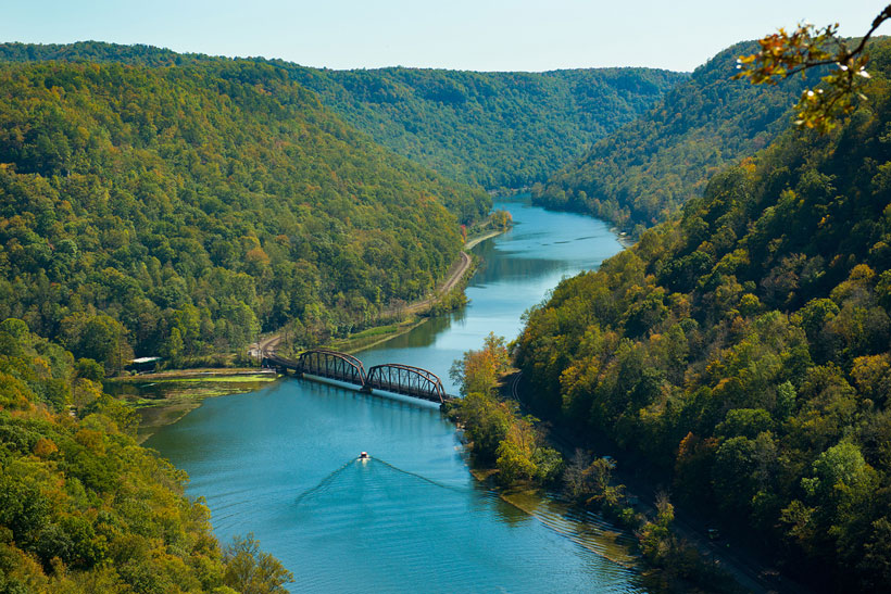 The Hawks Nest Bridge in West Virginia