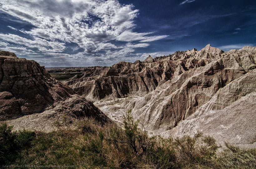 The Badlands National Park in South Dakota