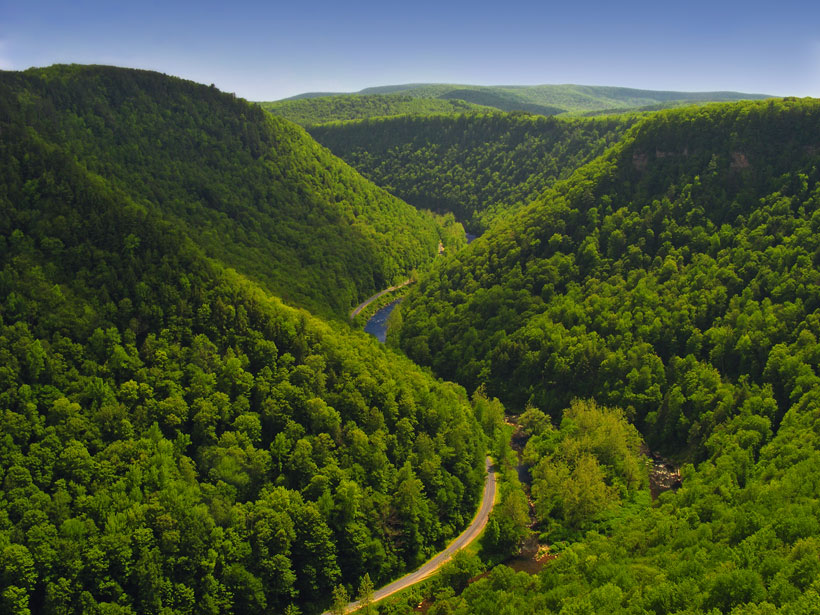 Pine Creek Gorge in Pennsylvania