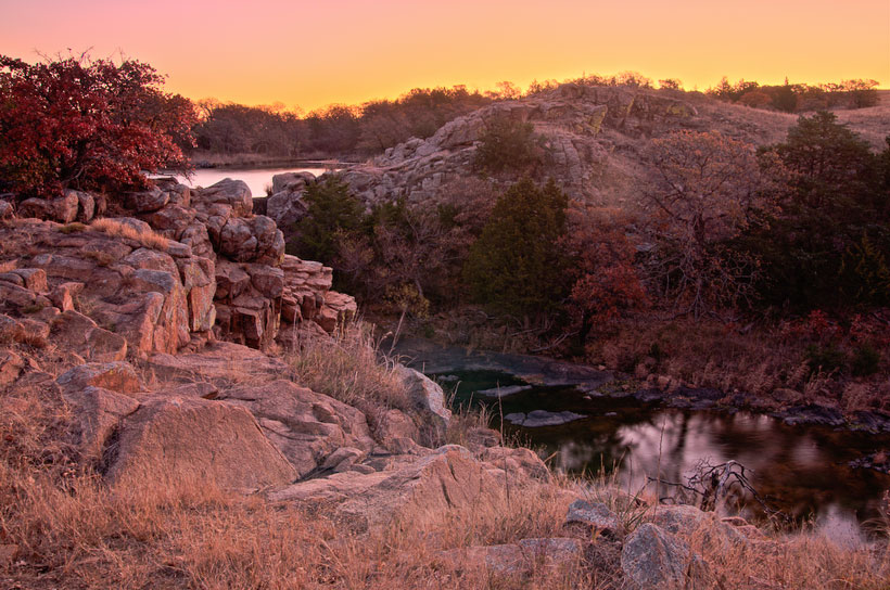 The Wichita Mountains in Oklahoma