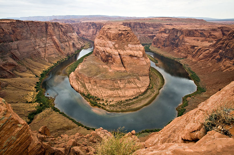 The horseshoe of the Colorado River in Arizona