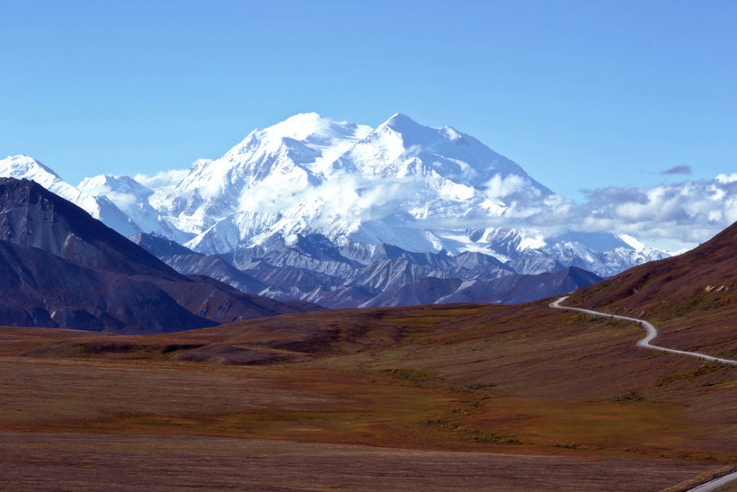 Mount McKinley (or Denali) in Alaska
