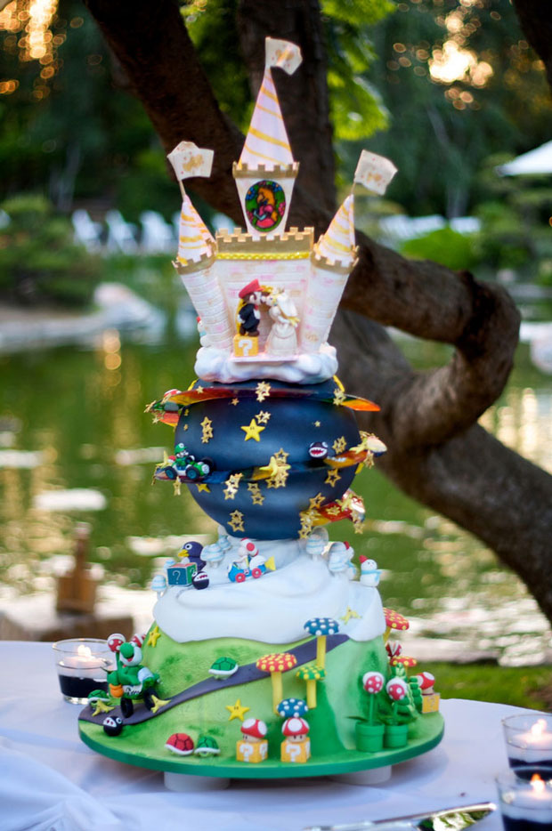 mario design wedding cake