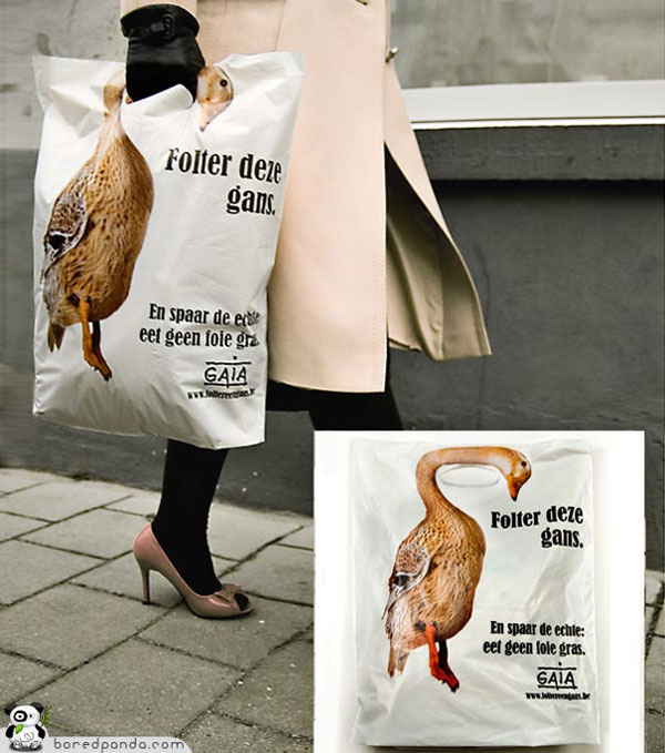 Creative Bag Advertisements goose