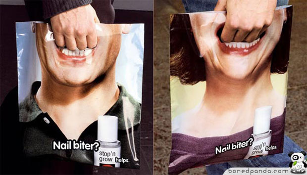 Creative Bag Advertisements nailbiter
