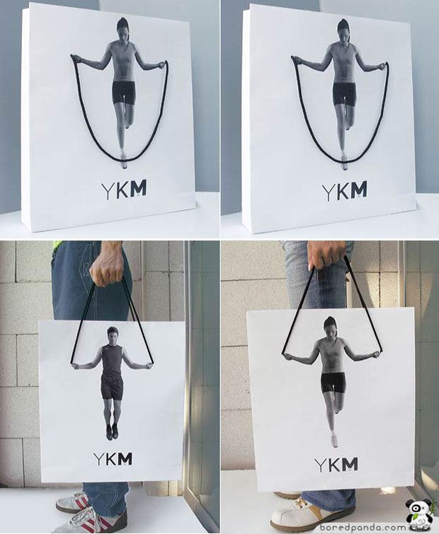 Creative Bag Advertisements rope