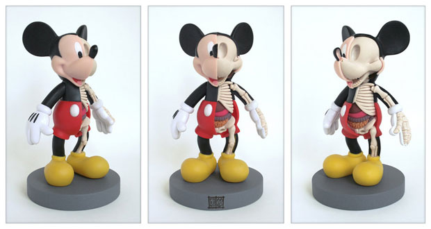 Dissected Anatomy Model Of A Pop Culture Icon Mickey Mouse