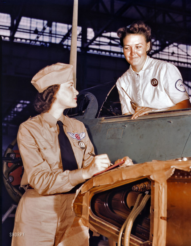 August 1942. An Ex-major in sociology,  Her job is to maintain the morale of women by helping them to solve their housing and other personal problems.