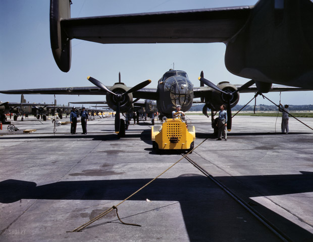 October 1942. A new B-25 bomber is sent for a test flight to Kansas City, Kansas.
