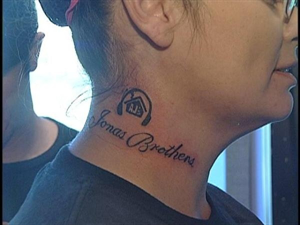 Tattoo of fan of Jonas Brothers