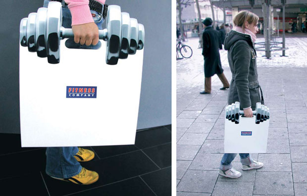 Fitness-Creative Advertisement shopping bags