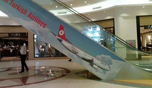 Most Funny Ad Placements--Turkish airline plane nose down